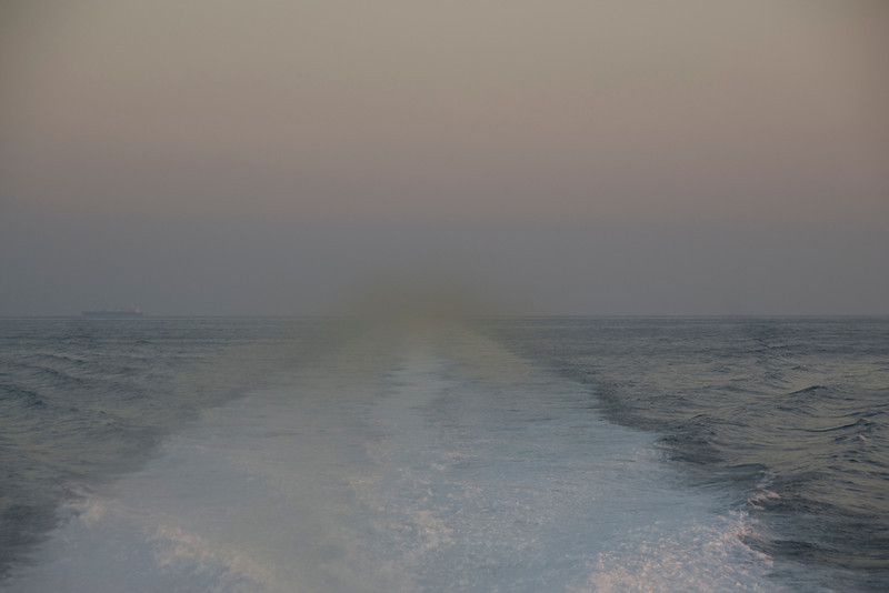 View from the ferry in Muscat, Oman