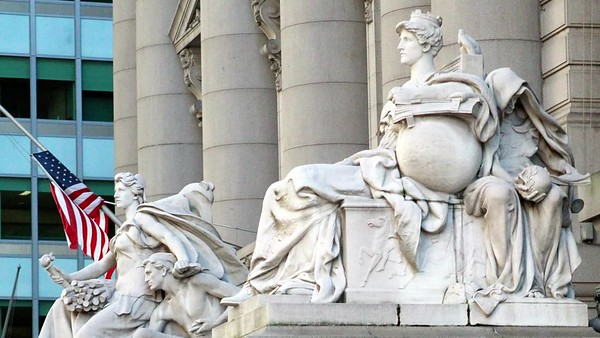 Custom House Statues