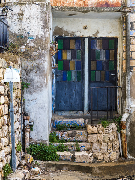 Facade of traditionally built house, Old City, Safed, Northern District, Israel