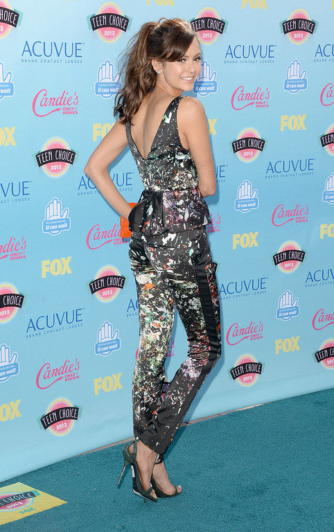 . UNIVERSAL CITY, CA - AUGUST 11:  Actress Nina Dobrev attends the Teen Choice Awards 2013 at Gibson Amphitheatre on August 11, 2013 in Universal City, California.  (Photo by Jason Merritt/Getty Images)