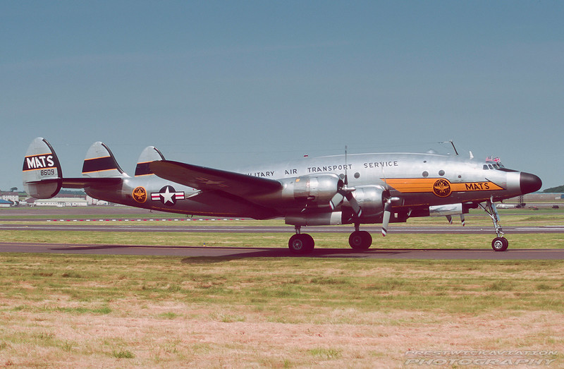 N494TW. Lockheed C-121A Constellation. MATS. Prestwick. June. 1998.