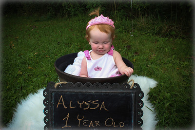 Alyssa is 1!