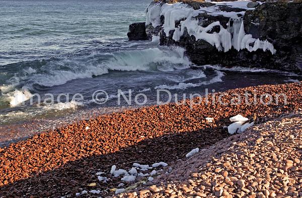 IONA'S BEACH, Lake Superior Wave Action