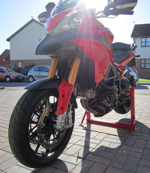 5/6: Abba Motorcycle Stand (better alternative to paddock stands!;-) with fitting kit for the Multistrada 1200