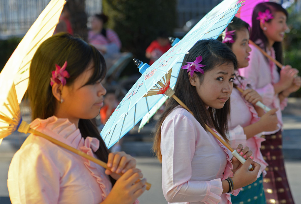 . The 26th Annual Martin Luther King, Jr., Peace & Unity Parade Saturday, January 18, 2014, Long Beach, CA. Members of the Khmer Arts Cultural Center participate. Photo by Steve McCrank/Daily Breeze