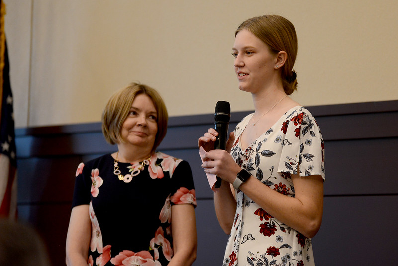 "Glenn High School senior Mia Crane, recognizing Shirley Norris: ""In her time at LMS, Mrs. Norris was always there for her students through thick and thin, and thankfully I was lucky enough to be one of them. I am so happy to be able to rightfully recognize Mrs. Norris for her selflessness, as I know there are many more out there who feel the same as I do; I am only a fraction of the difference she has made as an educator, and more importantly as a compassionate and sincere individual. She helped me recognize important values like being humble yet driven at a young age, and every bit of her guidance then has influenced so many elements that makes me up now. I want her to know that in the times I struggled to recognize myself, I found shelter with her and want thank her for always welcoming me with open arms, long after I left her classroom. I am fully confident in saying that so much of what she has done has been for the benefit of her students, and for that, we owe her more than words can comprehend.  To Mrs. Norris - I don't think you will ever truly know how grateful I am for what you have done for me, but please know I am forever changed."""