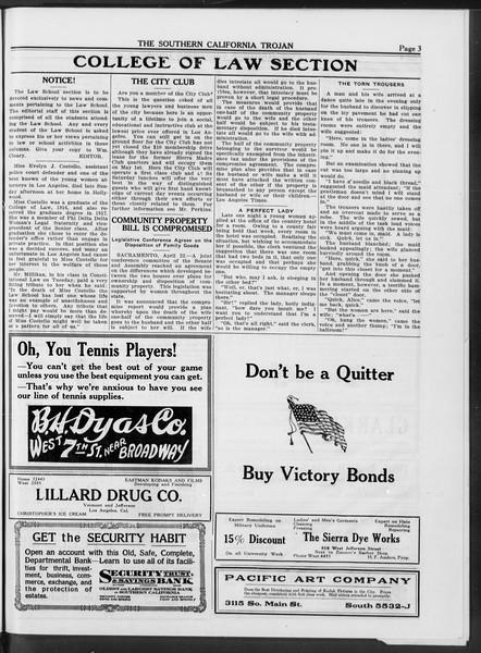 The Southern California Trojan, Vol. 10, No. 17, April 25, 1919