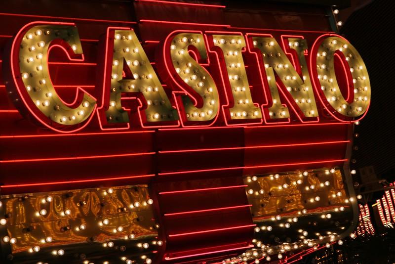 bright casino sign