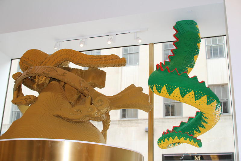 Lego window display (from the back)