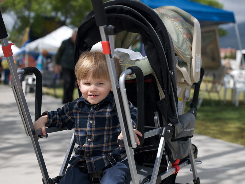 Cody and Casey's new Stroller