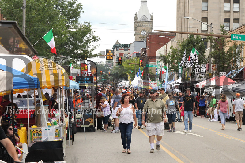 Butler county area residents and visitors flocked to Main Street in downtown Butler over the weekend for the city's annual Italian Festival. Officials closed the street to traffic to allow for pedestrians to enjoy street vendors, live music, carnival rides and games. Seb Foltz/Butler Eagle