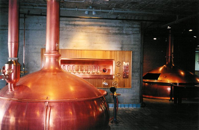 Anchor's copper brewhouse