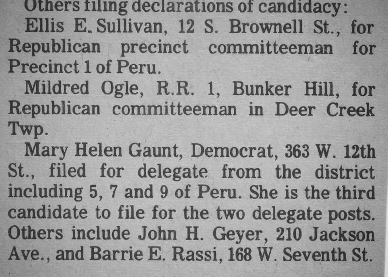 Newspaper Clipping - Ellis Sullivan declared candidate for Republican precinct committeeman.jpg