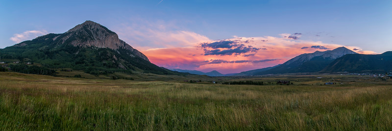 Mount Crested Butte Sunset Panorama