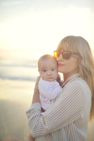 my sister Erin and her baby Halsey in La Jolla