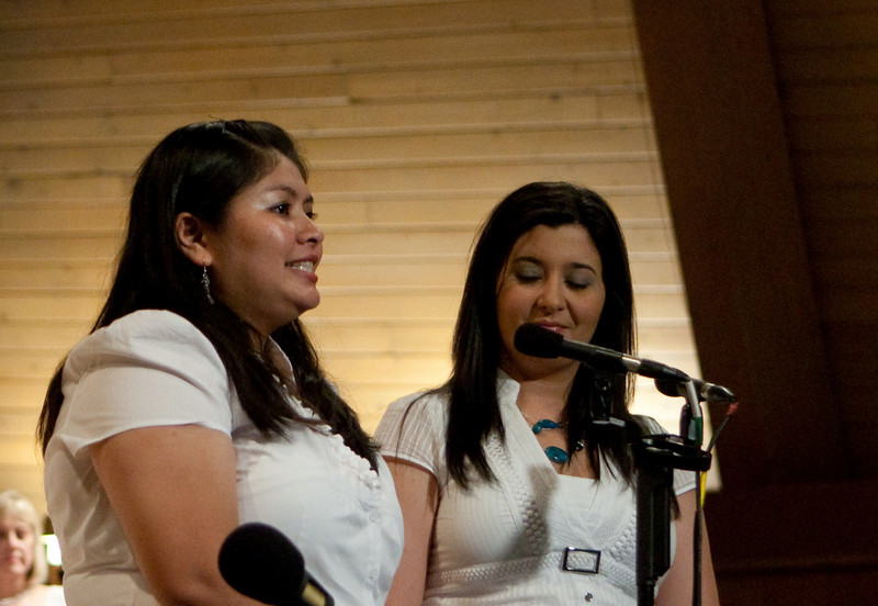 """Lori and Adrianne singing """"For Good"""""""