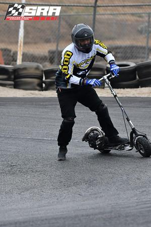 Go Ped Racer Black Helmet Blue Gloves