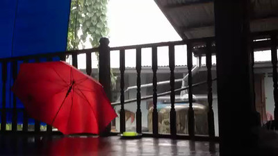 20-second video clip of typical thundershower in Pah Leurat