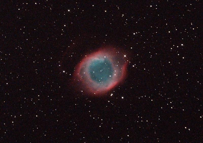 Caldwell 63 - NGC7293 - Helix Planetary Nebula - 24/9/2014 (Processed cropped single test image)