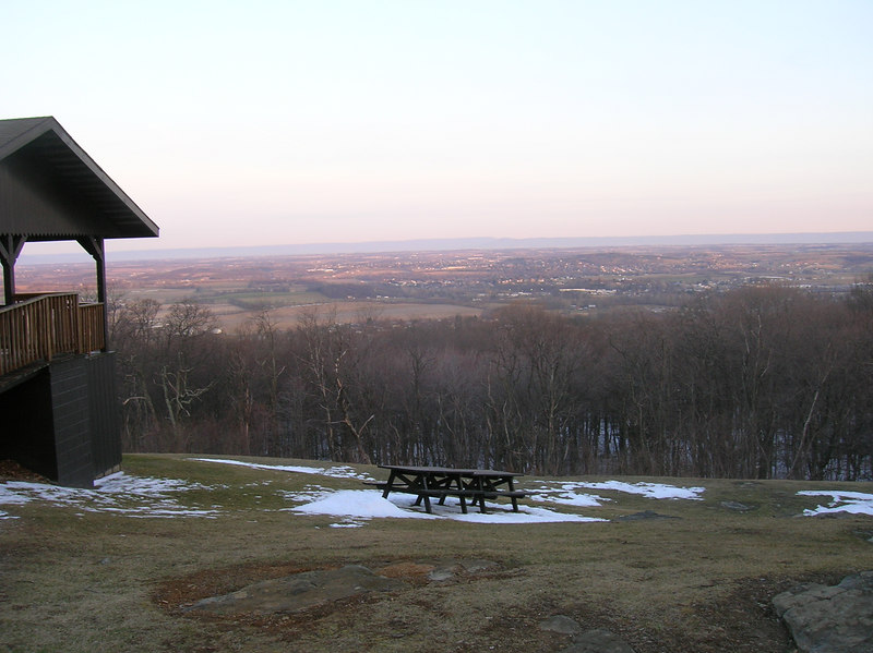 The view of south-central Pennsylvania on a crisp March morning