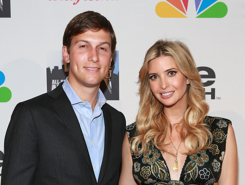 """. Jared Kushner (L) and Ivanka Trump attend \""""All Star Celebrity Apprentice\"""" Finale at Cipriani 42nd Street on May 19, 2013 in New York City.  (Photo by Robin Marchant/Getty Images)"""