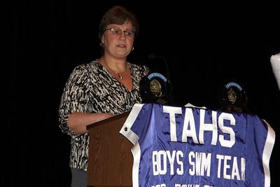 Awards and Recognitions, Tamaqua Swim Team, Auditorium, Middle School, Tamaqua (3-26-2013)