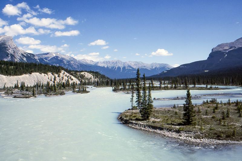 Saskatchewan River - Between Banff and Jasper, Alberta, Canada - Summer 1990