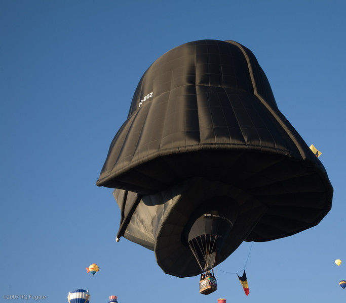 Darth Vader flies away
