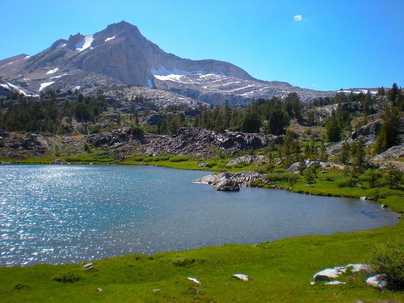 Greenstone Lake (el. 10,127 ft.), North Peak above.