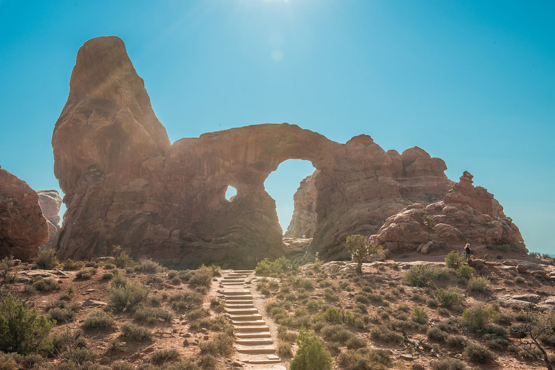 the path leading to turret arch