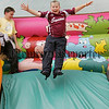 The only way in down as Ryan Lundy enjoys the slide at St Oliver Plunkett Park Camlough annual fun day. 06W32N5