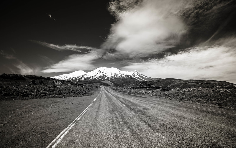 On the Road to the mountain