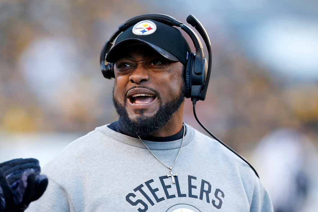 . Pittsburgh Steelers head coach Mike Tomlin stands on the sideline during the second half of an NFL football game against the Cleveland Browns n Pittsburgh, Sunday, Jan. 1, 2017. (AP Photo/Jared Wickerham)