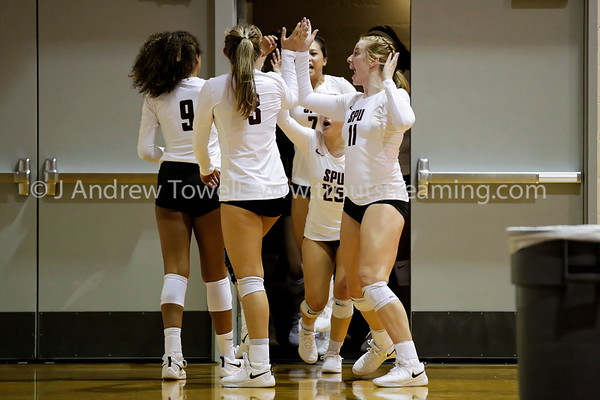 20180824 Womens Volleyball Seattle Pacific University Falcons versus California State University San Bernadino Coyotes Snapshots