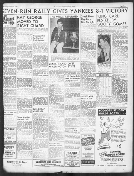 Daily Trojan, Vol. 29, No. 15, October 07, 1937