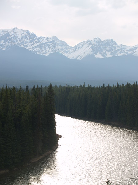 sunset over the Bow River (2007)