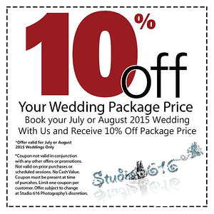 10% Off Summer 2015 Wedding Package