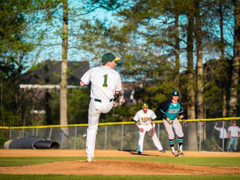 2016-04-18 Hickory v Great Bridge Varsity Baseball