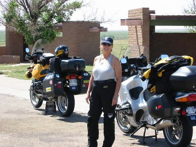 Sue's Motorcycle Pic