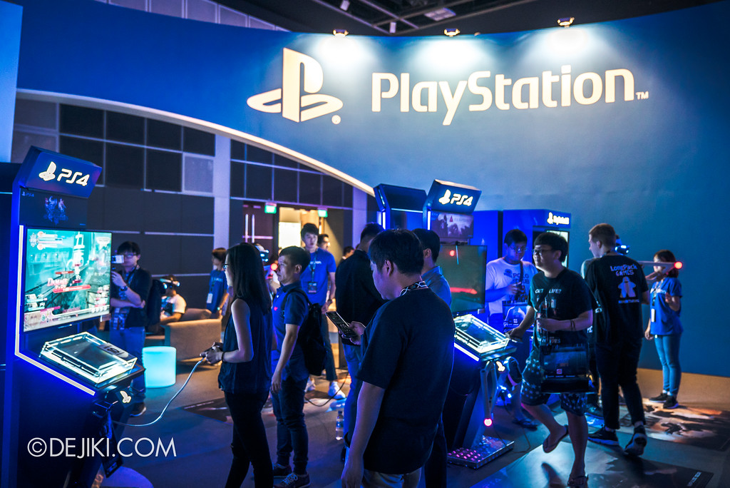 GameStart Asia 2017 Singapore gaming convention - Sony PlayStation booth overview
