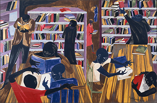 "Jacob Lawrence, ""Students With Books,"" 1966"