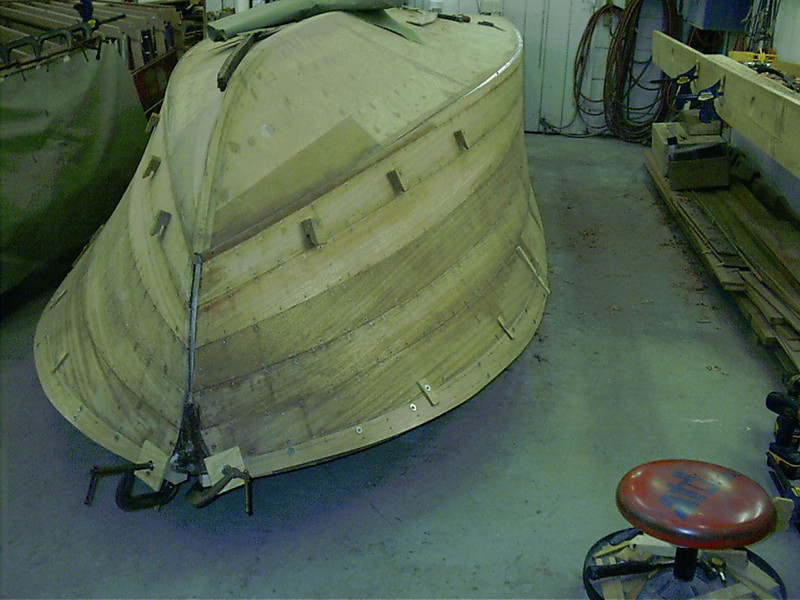 Last starboard front plank fit,