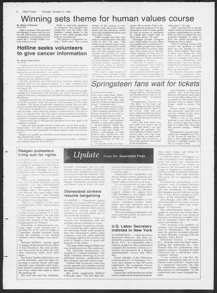Daily Trojan, Vol. 97, No. 21, October 02, 1984