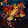 Flowers in a Vase IV-Georgie, 18x18 painting on paper JPG