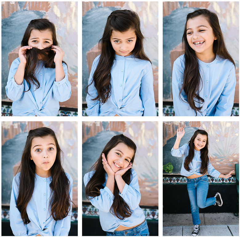Zara, JE Kids, model headshots for portfolio by Tenley Clark Photography. Fremont, CA