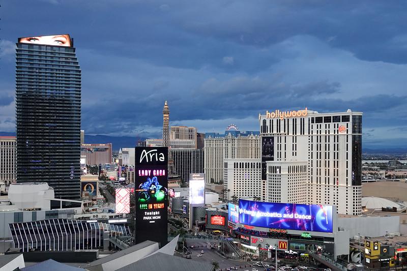 Las Vegas Strip, from the Skybar