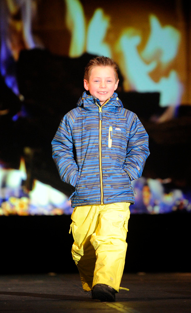 Description of . Trespass snow gear for kids, as the SIA Snow Show hosted its 2013 Snow Fashion & Trends Show at the Colorado Convention Center  in downtown Denver  on Wednesday, January 30, 2013.  (Photo By Cyrus McCrimmon / The Denver Post)