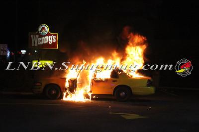 Copiague F.D. Vehicle Fire 744 Montauk Hwy. (Wendy's Parking Lot) 4-2-15
