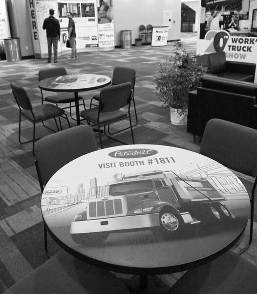 Onsite branding: Crossroads Hallway table mats
