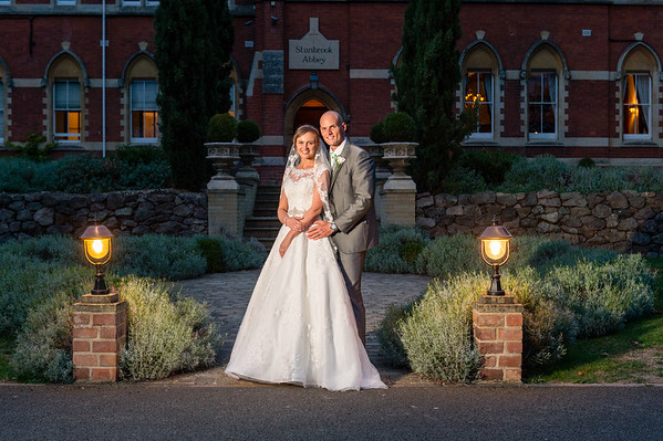 Gemma & Luke at Stanbrook Abbey in Worcestershire